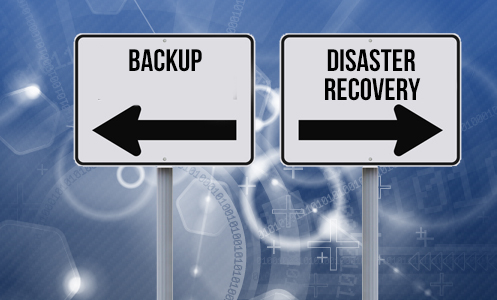 Backup and Disaster Recovery sign posts