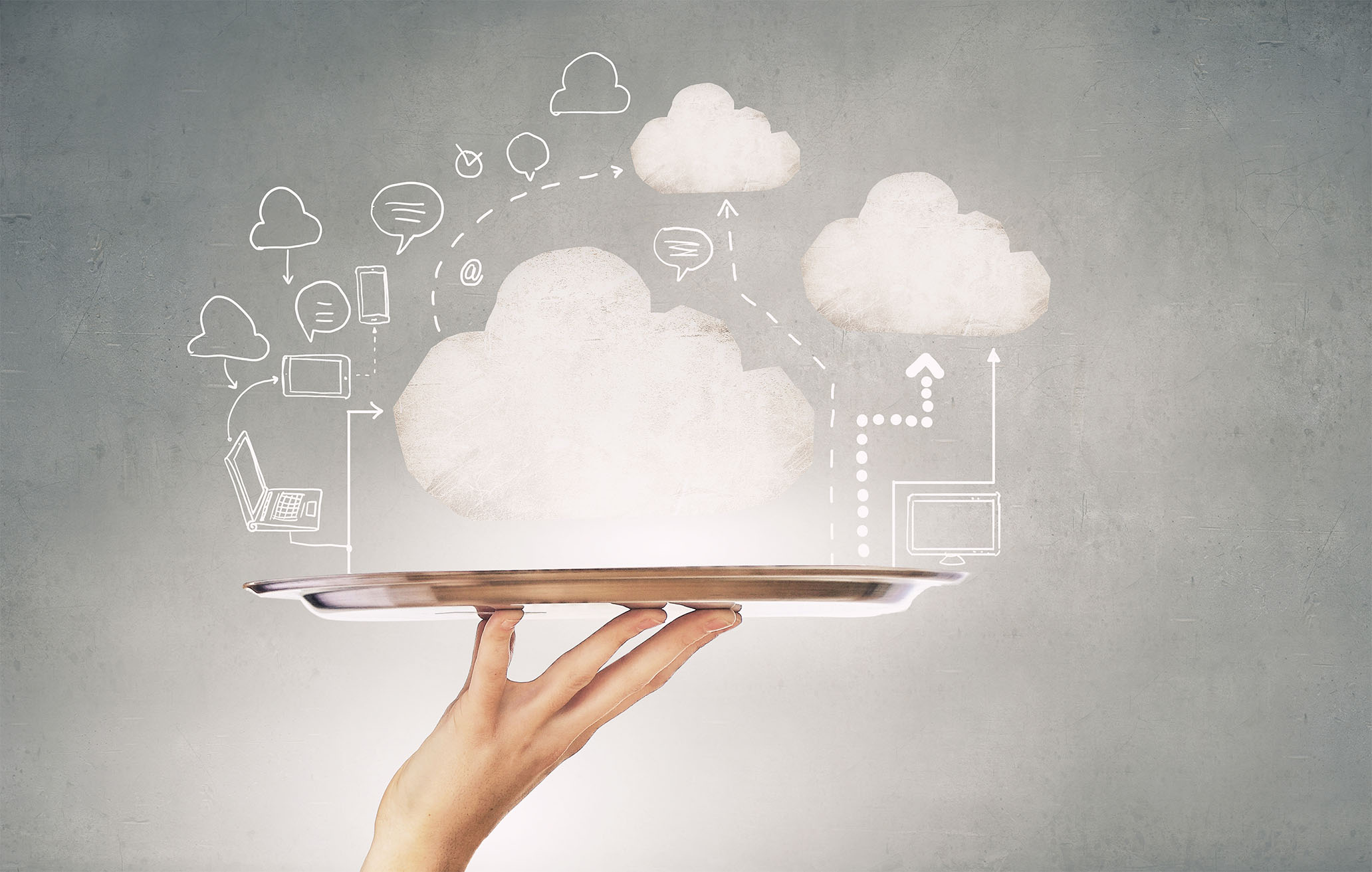 Cloud on a tray