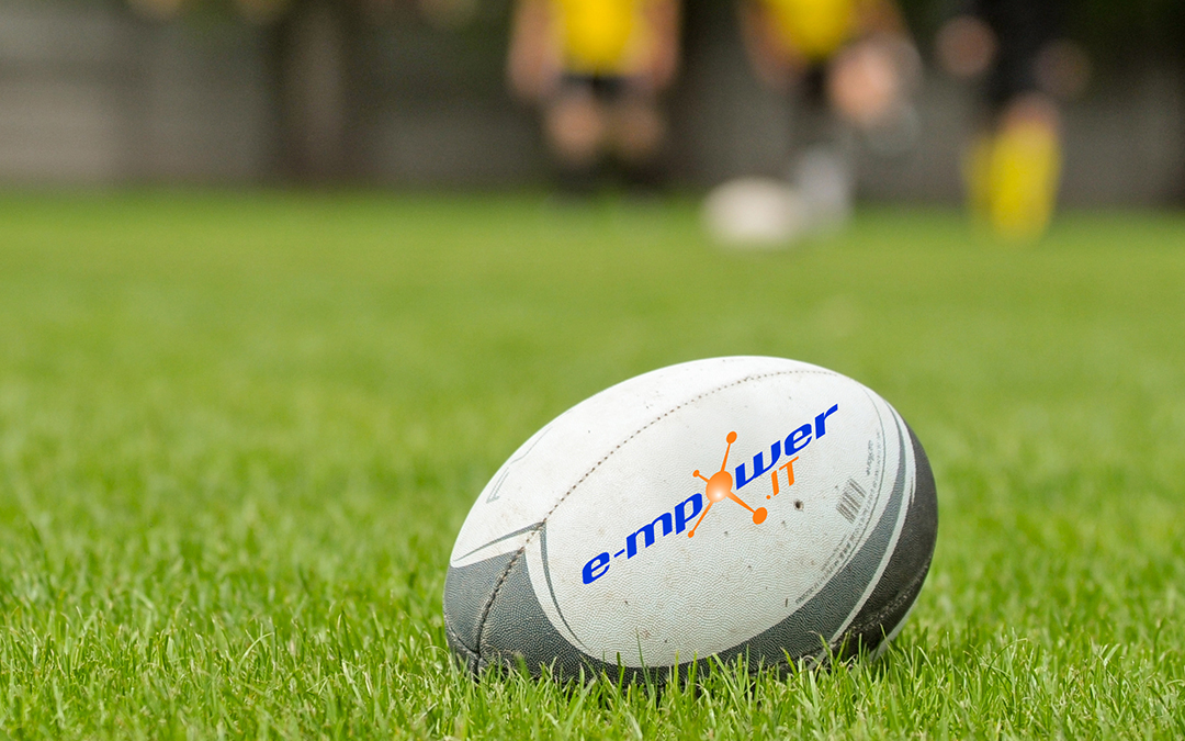 rugby ball with e-mpower.IT